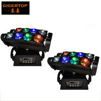 Freeshipping 2pcs/lot Stage Light RGBW Led Spider light Beam Effect DMX 13/46 Chs Beam Angle 3 Degree 8PCS 10W high power LED