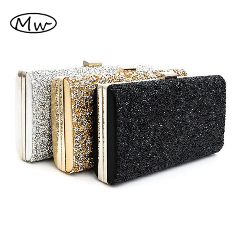 Female Clutch 2017 Luxury Handbags Diamond Evening Bag Bling Banquet Party Wedding Purses Clutch Wallet Gold
