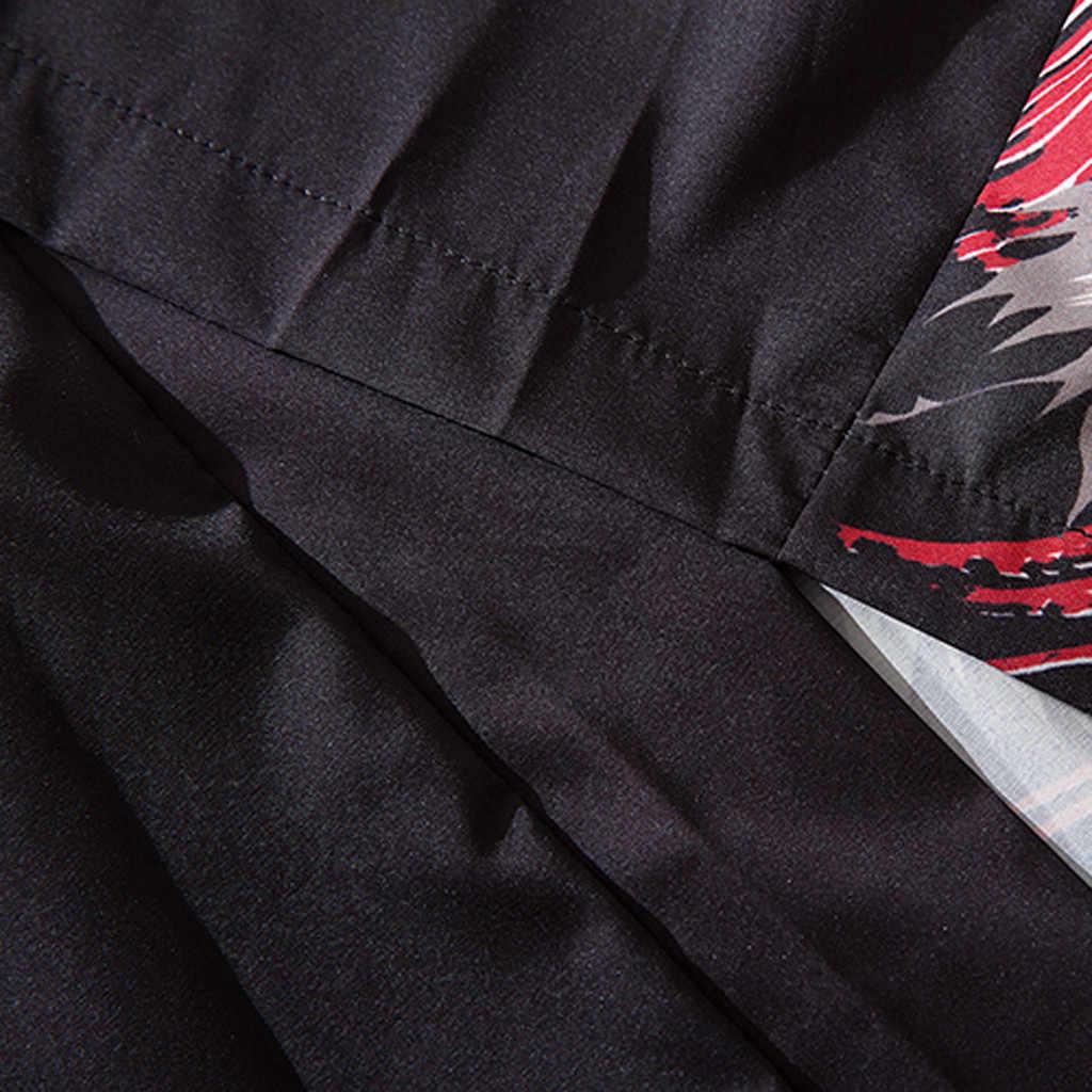 Мужская пляжная рубашка тропическая летняя рубашка Повседневный свободный хлопковый кардиган Национальный принт куртка платье юката camiseta MUQGEW бренд
