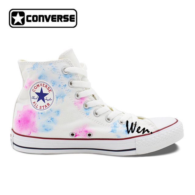 4448ff0ad45a ... where to buy hand painted converse shoes for women men custom design  skull colorful flowers white ...