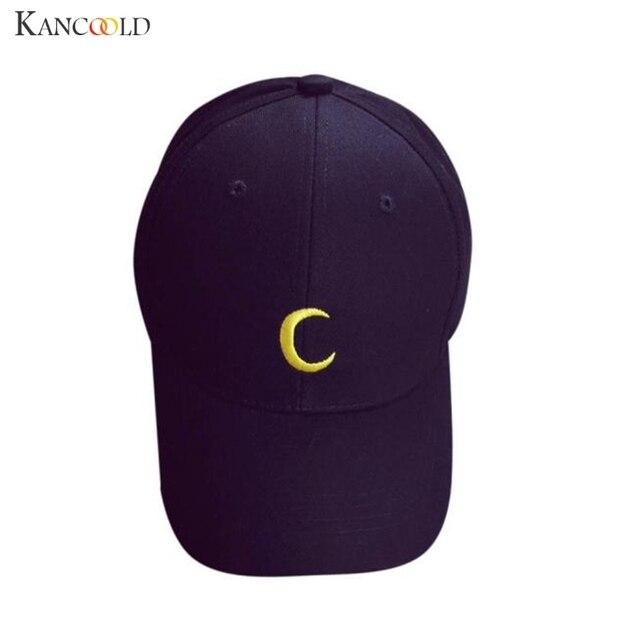 Luna patrón Bordado algodón unisex Gorras de béisbol moda Niños Niñas  SnapBack hip hop sombrero hombres 830847ac0ab