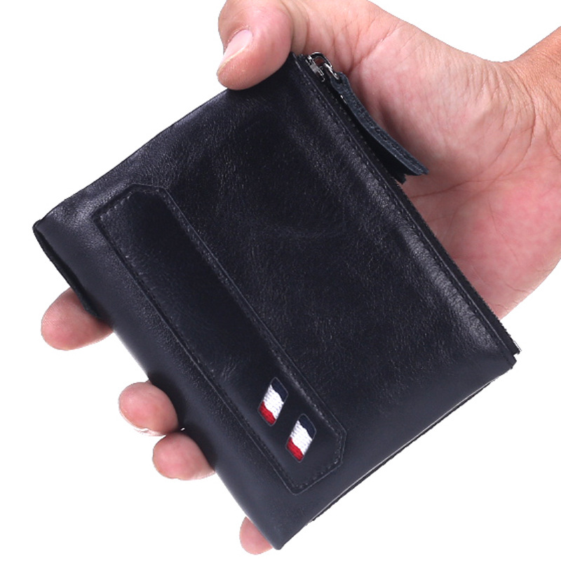 ФОТО Genuine Cowhide Men Wallet Short Coin Purse Money Organizer Wallet Small Vintage Wallets Brand High Quality Designer carteira
