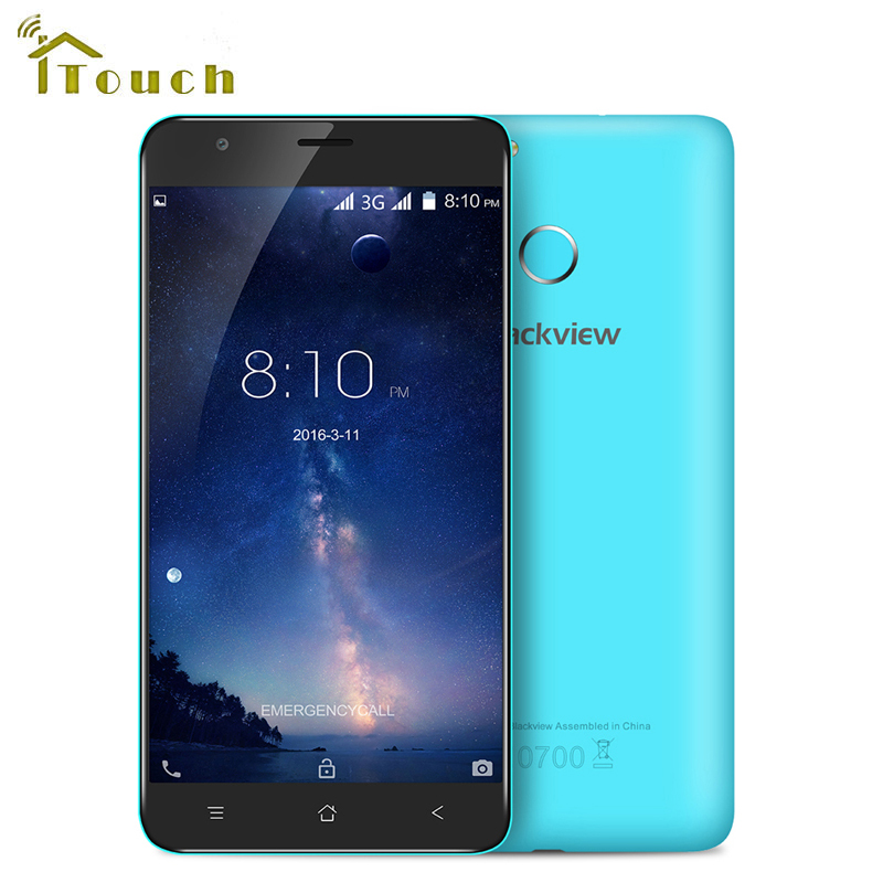 Цена за 5.5 дюймов Blackview E7S MT6580 Смартфон Quad Core 16 ГБ 8.0MP ROM 1280x720 Мобильный Телефон Android 6.0 Отпечатков Пальцев разблокированный Телефон