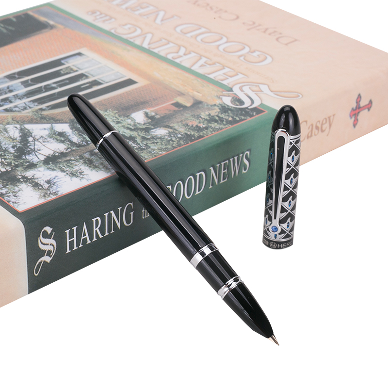 New 0.5mm Nib Hero 1110 High Quality Fountain Pen Classic Series Finance Pens Free Shipping 1pcs lot hero 1315 fountain pen 4 colors options 0 5mm nib standard type pens free shipping