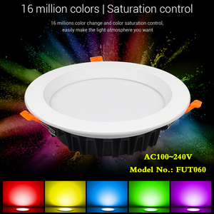 Image 2 - 25W RGB+CCT recessed indoor led ceiling Downlight dimmable AC100~240V hole size 200~210mm Compatible with 2.4G RF remote control