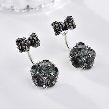Boucles D'oreilles avec nœud papillon Pour Femmes, en cristal synthétique, bleu Royal, nouvelle collection