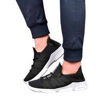 Для мужчин сетки с перекрестной шнуровкой дышащая обувь повседневная обувь нескользящие носком туфли на плоской подошве обувь из сетчатог