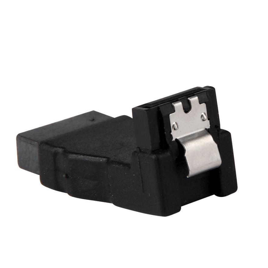 Good Sale 90 Degree Right Angled Type SATA 7Pin Male To Female 90D Convetor HDD Adapter Nov 24 new 90 degree angled sata adapter 7 15pin 22 pin male to 22 pin female extension computer adapter convertor