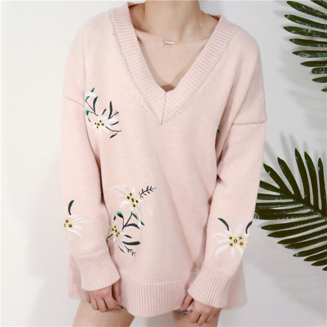 Aliexpress.com : Buy Bazaleas 2017 autumn pink Floral embroidery ...