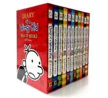 6-9years Diary of a wimpy kid Develop kid reading habit evening read book Cartoon encouragement inspiring book 12pc/set(China)