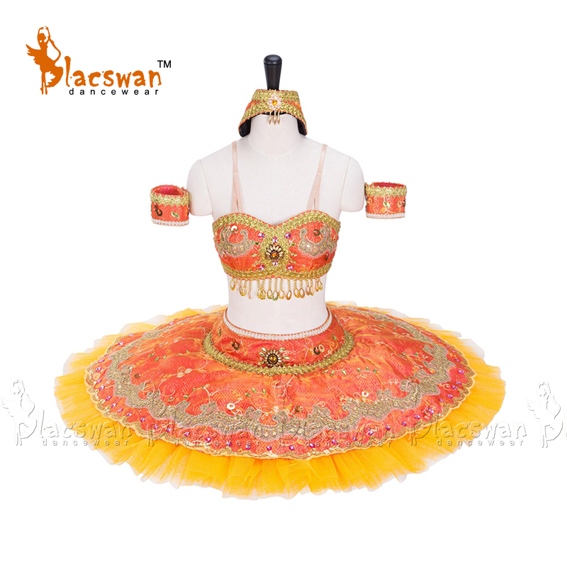 La Bayadere Costume two piece Professional Tutu Ballet Le Corsaire Variation Role Odalisque BT615 Custom Made Pancake Tutu Child