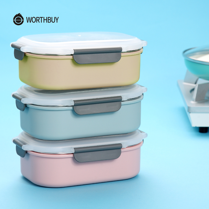 WORTHBUY Japanese 304 Stainless Steel Bento Box For Kids