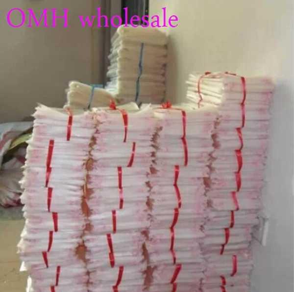 OMH atacado 200 pcs 9x14 cm OPP adesivos auto adesiva transparente limpar PP plástico sacos para presente Da Jóia embalagem PJ369-4
