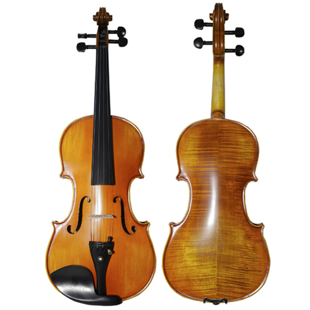 Matt 4/4 Violin Natural Stripes Maple Master Hand-craft Antique Professional Violino Ebony Fingerboard TONGLING Brand kinglos matt acoustic art violin ebony fittings carved flowers stuedents maple violin 4 4 violino fiddle with case bow mute