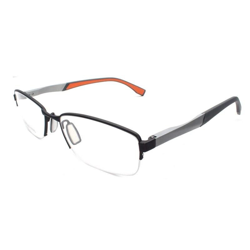 Handoer Half Rimless Optical Glasses Frame for Men Spectacles Prescription Semi-Rim Eyewear