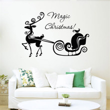 Hot Sale Christmas Wall Stickers PVC Glass Mural Sticker Festive Home Decoration Pegatina de pared hot sale silver glass mosaic mural wall tile