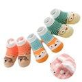 3 Unids/lote Algodón Animal Bebé Infantil Calcetines para Recién Nacidos Niñas niños Antideslizante Calcetines de Bebé de Cumpleaños Ropa Regalos niño 0-3 T