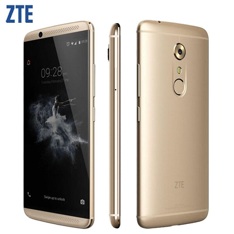 Оригинал zte axon 7 a2017 сотовый телефон 4 ГБ оперативной памяти 64/128 гб <font><b>rom</b></font> snapdragon 820 msm8996 quad core 5.5 &#8220;20.0MP Android 6.0 Смартфон