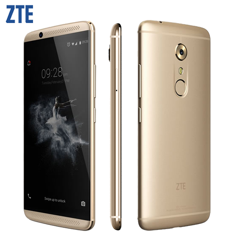 """Original ZTE Axon 7 A2017 Cell Phone 4GB RAM 64/128GB ROM Snapdragon 820 MSM8996 Quad Core 5.5"""" 20.0MP Android 6.0 Smartphone"""