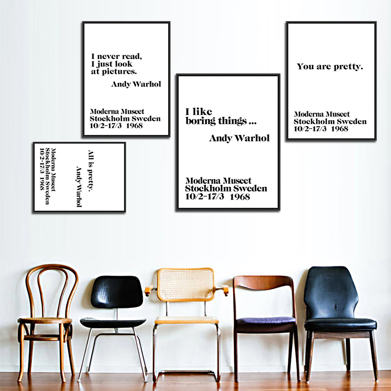 Modern Nordic Canvas Painting Wall Typography Art Print Poster ...