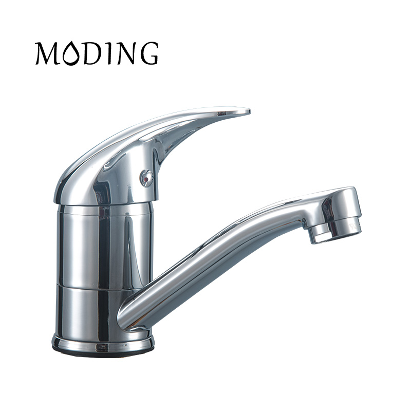 MODING Kitchen Water Tap Faucet Mixer Sink Faucet Heart Handle Bottom Kitchen Z type Sink Faucet