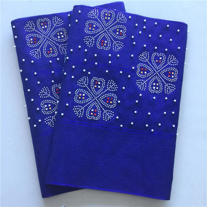 Aso Oke Nigeria Headtie Riche Aso Oke Headtie 2pcs/bag African Women's Gele For Wedding Polyester Aso Oke Fabric <font><b>10</b></font> Colors <font><b>30</b></font> image