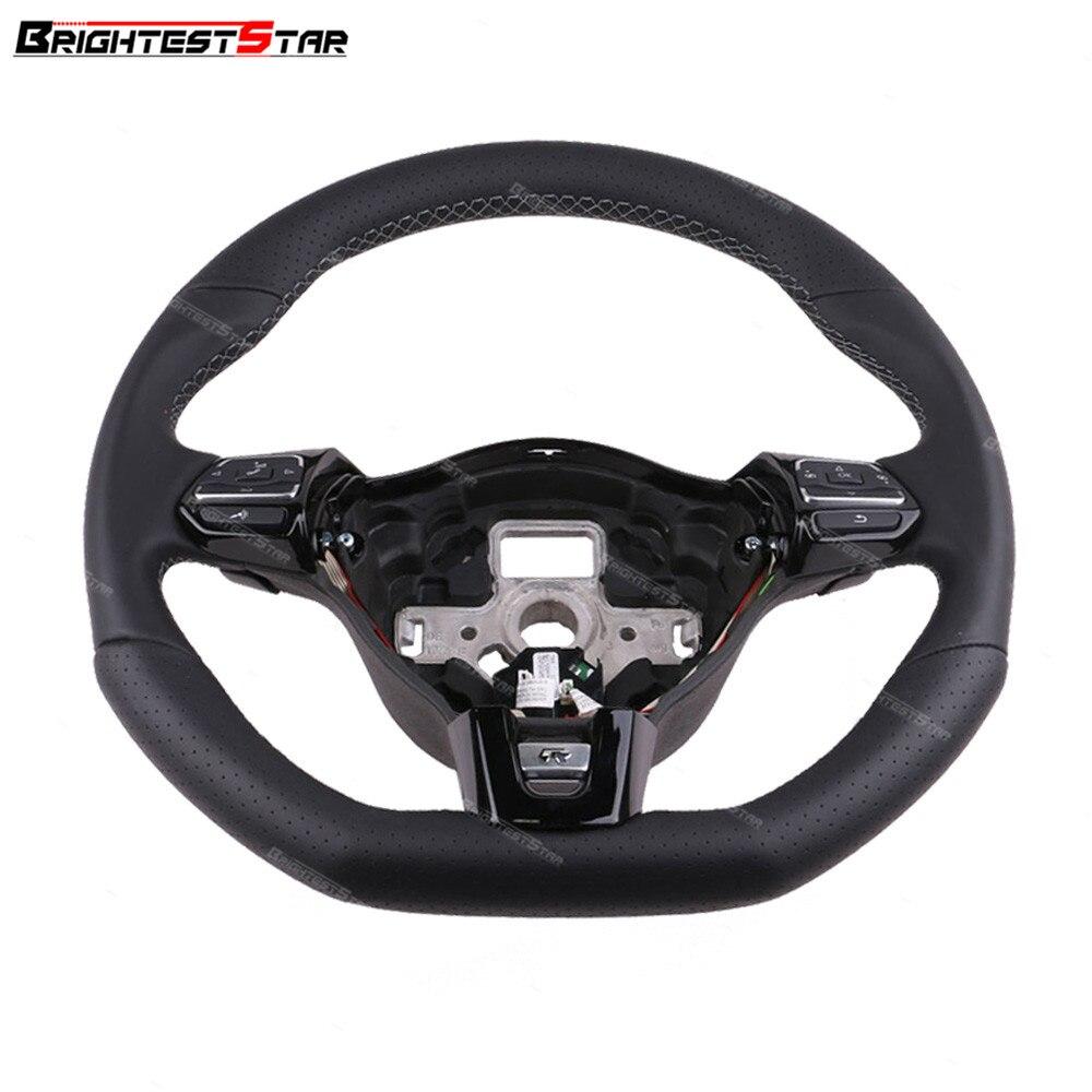 Pour GTI R20 Style rouge gris ligne chromé multifonction volant palette DSG pour Golf MK6 MK7 Jetta EOS Passat CC Tiguan