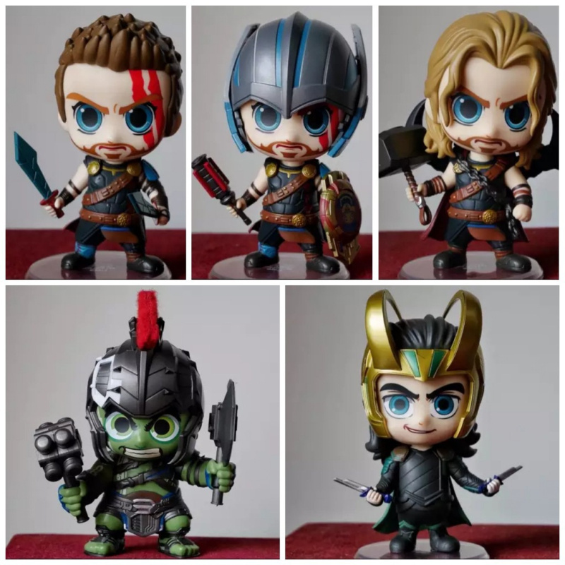 Thor Ragnarok Fire of the country Thor Gladiator Raytheon Rocky Hulk 10cm Action Figure Toys