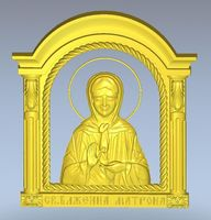 Exclusive 3d model relief for cnc in STL file format Icona_sv_Matrona