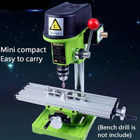 X Y axis Adjustment Workbench Mini Milling Machine Miller Multifunction Precision Bench Drill Vise Fixture DIY Coordinate Table