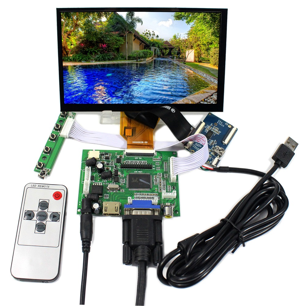 HDMI VGA 2AV LCD Controller Board With 7inch 800x480 AT070TN90 Capacitive Touch Panel hdmi vga 2av lcd driver board vs ty2662 v1 71280 800 n070icg ld1 ld4 touch panel