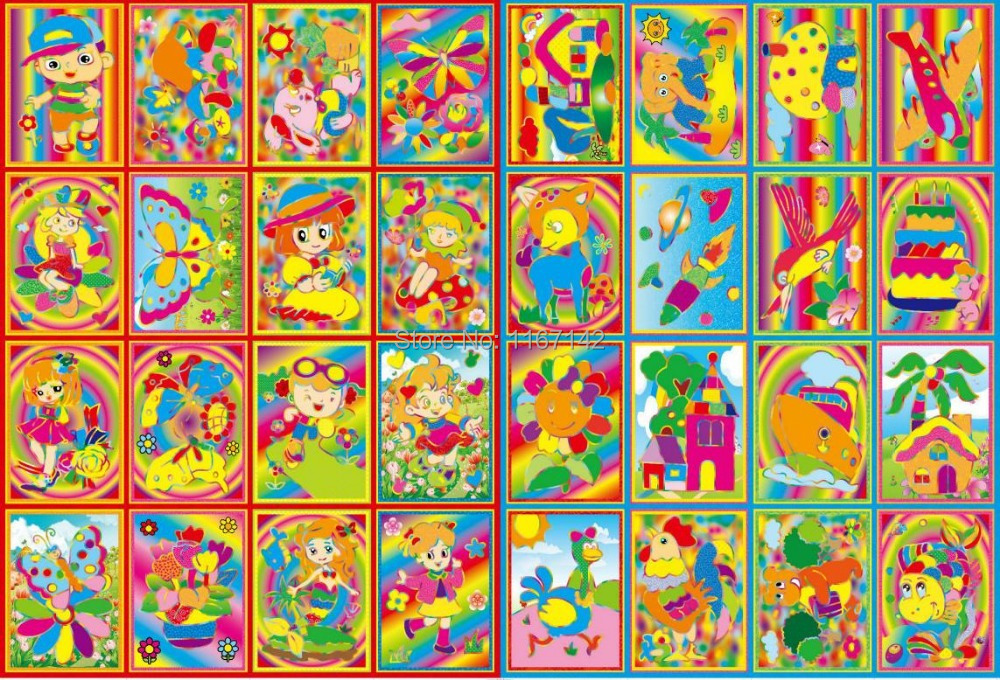 aliexpresscom buy 10 pcs 912cm small size kids scraping painting educational toys for children double faced drawing two sided coloring notebook from - Drawing For Small Kids