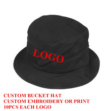 cf204fd8 Custom Bucket Hat Cotton Black Adult Men Women Personalized Embroidery  Print Logo Sports Fashion Gorras 10