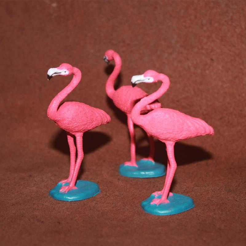 Toy Cognitive-Decoration Animal-Model Pvc-Figure Flamingos Children 7cm Simulation