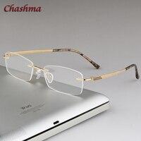 058a47ee3 Chashma Rimless Glasses Frame Men Eye Frames Gafas Graduadas Specs Light  Eyeglass Titanium Gold Spectacles For. Chashma Homens Olho Quadro Óculos ...