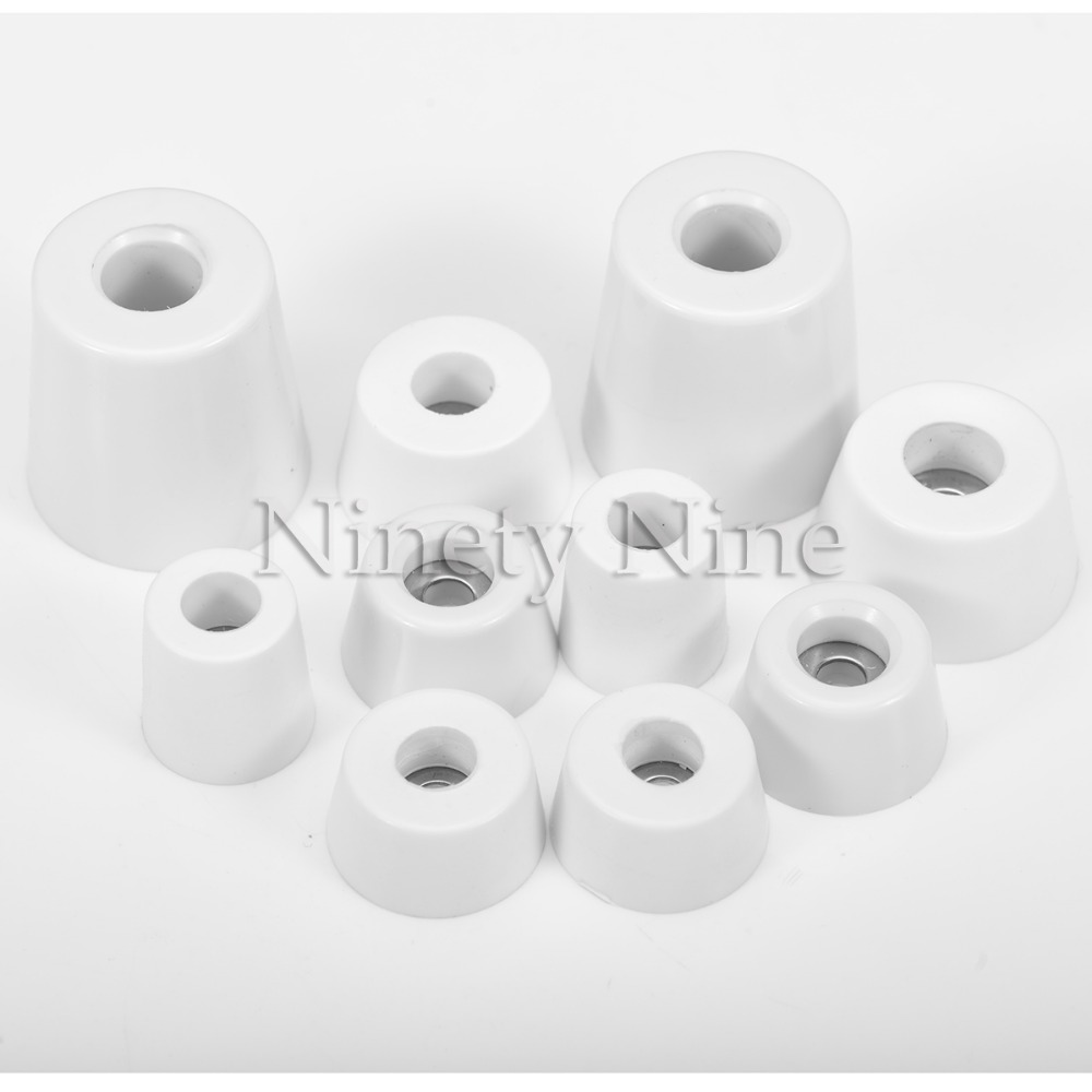 10Pcs White Nonslip Chair Leg Caps Feet Pads Rubber Floor Protectors Round Furniture Table Covers