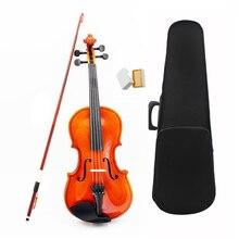 1/8 Размер акустическая скрипка с Тонкий чехол с бантом канифоль для От 3 до 6 лет M8V8