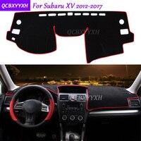 For Subaru XV 2012 2017 Dashboard Mat Protective Interior Photophobism Pad Shade Cushion Car Styling Auto