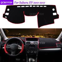 For Subaru XV 2012 2017 Dashboard Mat Protective Interior Photophobism Pad Shade Cushion Car Styling Auto Accessories