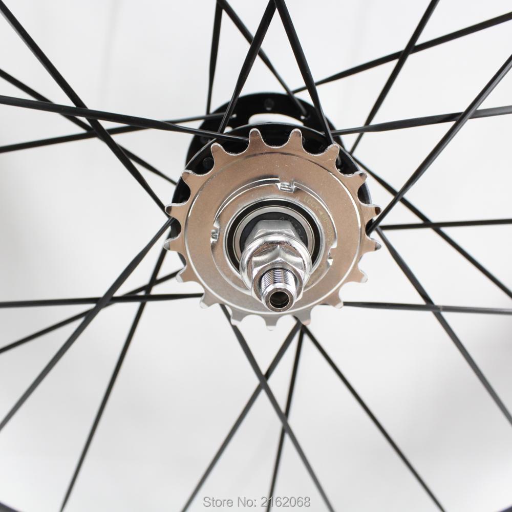 896313bcdaf46 1 par nuevo 700C 88mm llantas tubulares track fixed gear bike matt 3 K  fibra de carbono completa de bicicletas de ruedas con engranaje fijo hubs  envío ...
