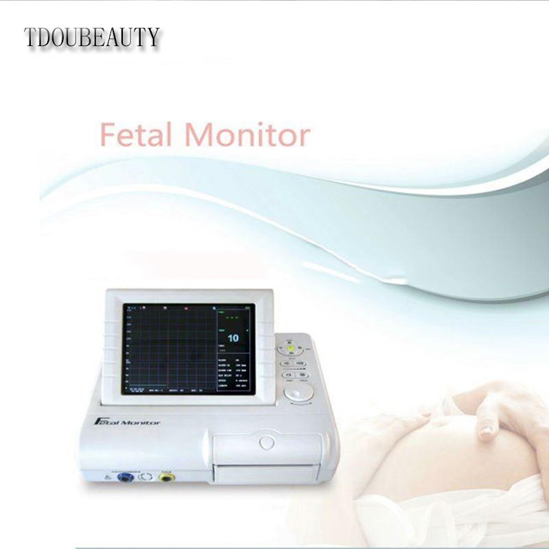 TDOUBEAUTY FHR & Fetal Movement,8.4 Colour LCD Display, twins probe optional CMS800G Fetal Monitor Free Shipping