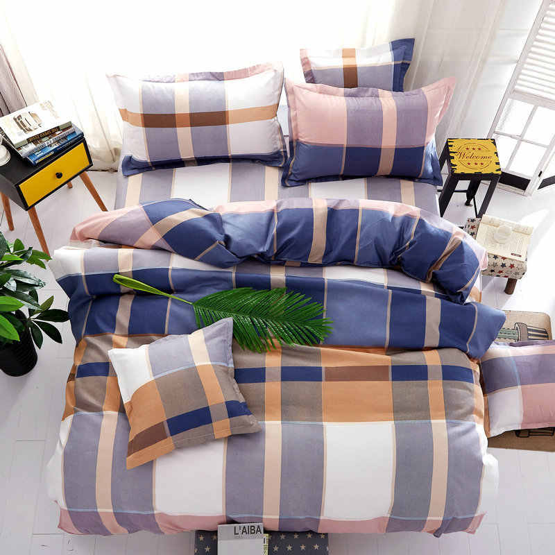 3/4 pcs Bedding Set 1.2m 1.5m 1.8m 2m Bedsheet Bed Linen King Queen Size Duvet Cover Pillow Quilt Case Bedclothes