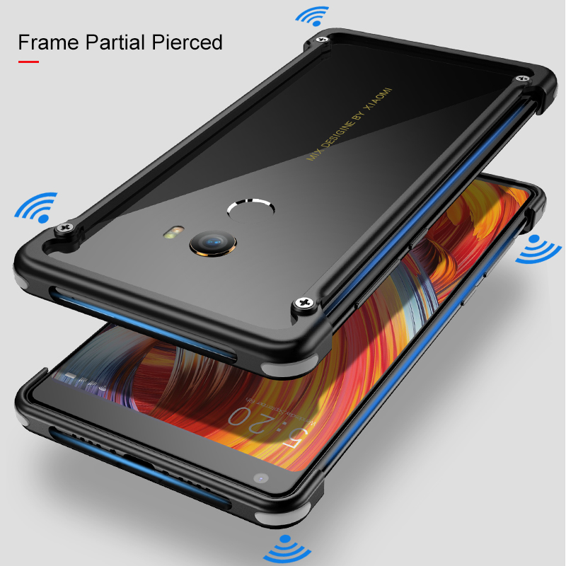 Image 4 - OATSBASF Airbag Bumper Metal Case For Xiaomi Mi Mix 2 Case Personality Metal Cover Case for Xiaomi Mi Mix2 360 Degree Case-in Phone Bumpers from Cellphones & Telecommunications