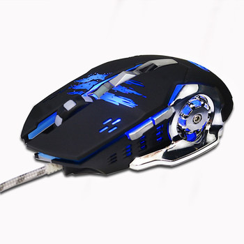 Professional Wired Gaming Mouse 6 Button 3200 DPI LED Optical USB Gamer Mice Cable Mouse For PC Computer Laptop notebook เมาส์