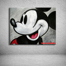 Cartoon canvas oil painting Hand painted Mickey Mouse Oil Painting Wall Art Picture For Living Room kids room Decoration gift