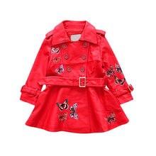 Automne Princesse Filles Vestes Noir Rouge PU Cuir Tops Veste Enfants  Enfants 2018 Fille Robe de Survêtement Manteaux 6-14Y Papi. 9627b7d3594