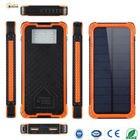 BOGUANG solar power bank 20000mAh Orange & Green waterproof charger LED light waterproof dual USB portable battery mobile phone