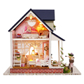 Handmade Doll House Furniture Miniatura Diy Doll Houses Miniature Dollhouse Wooden Toys For Children Grownups Birthday Gift A60