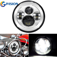 Accesories Motos 7'' led harley headlight Round 7inch Motorcycle led Driving lights for Harley Davidson Projector lamp
