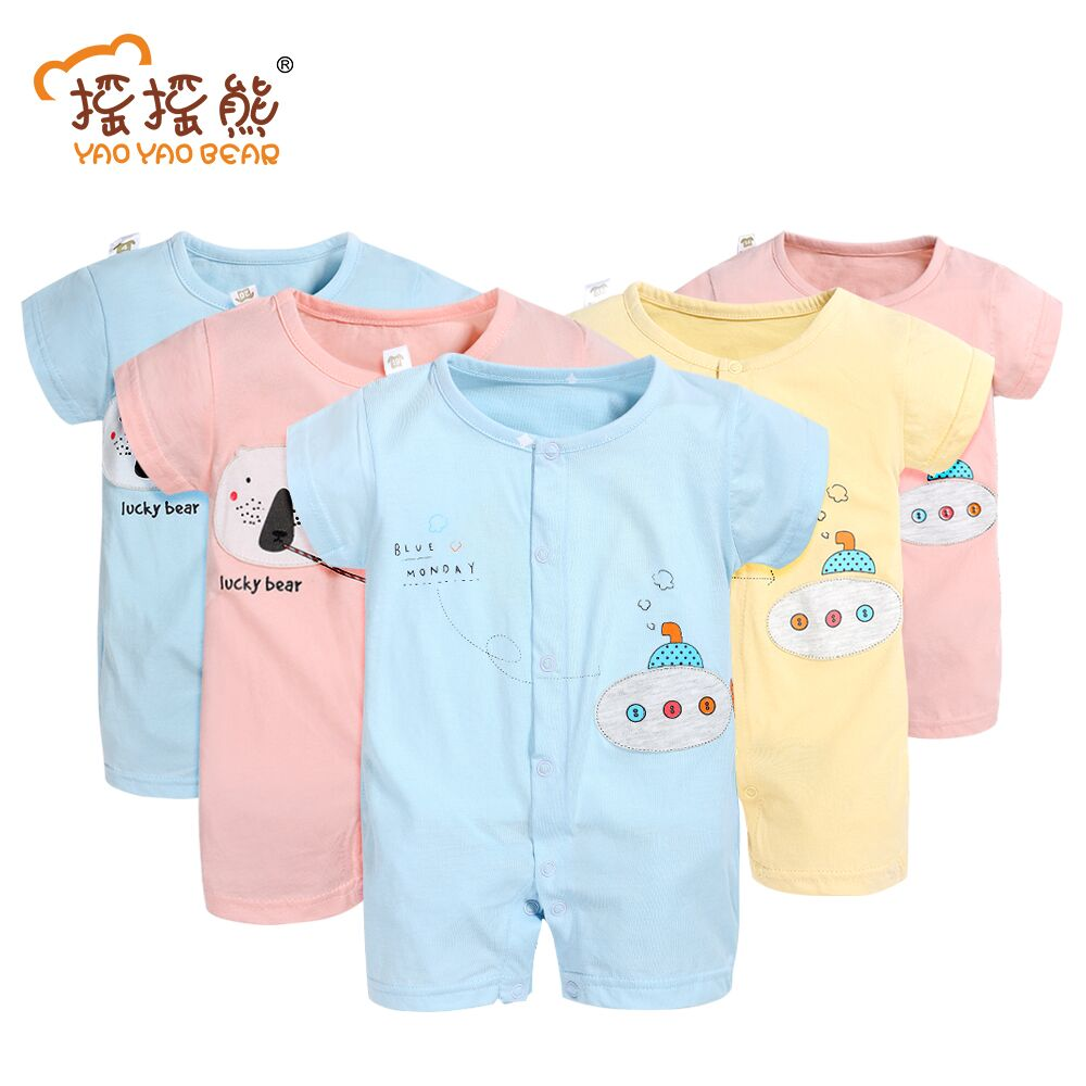 Girl Summer Romper 2pcs/lot Baby Rompers Baby Girls Clothes Cotton Bear Romper Newborn Jumpsuits Submarine Baby Boy Clothes 2pcs newborn baby boy girl clothes 2017 summer sleeveless camouflage romper baby bodysuit headband 2pcs outfits kid bebek giyim